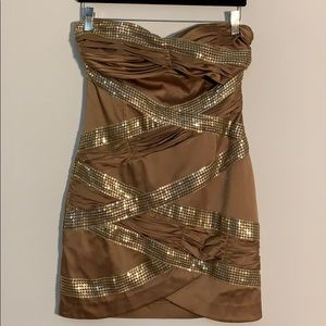 Arden B Gold Dress Size Small